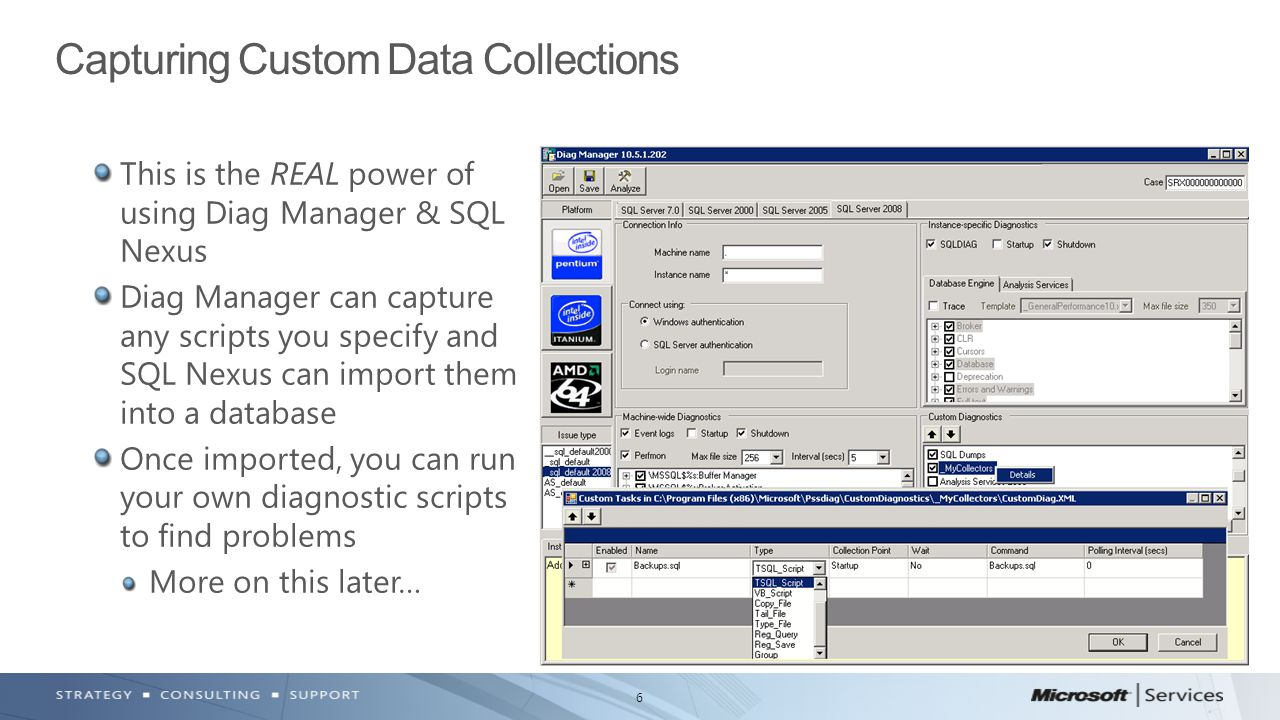 Capturing Custom Data Collections