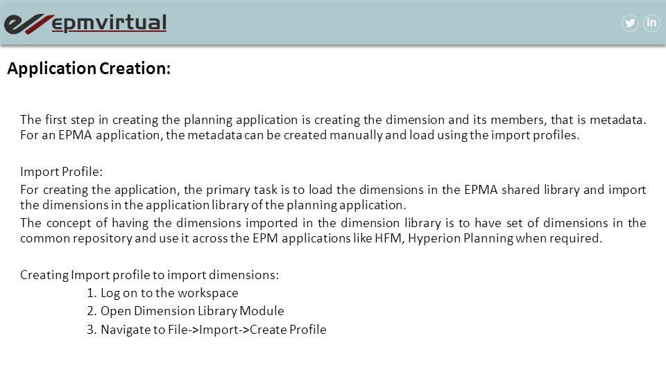 Application Creation: