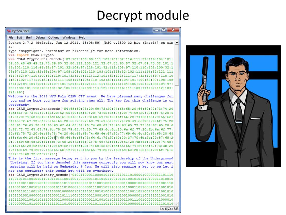 Decrypt module