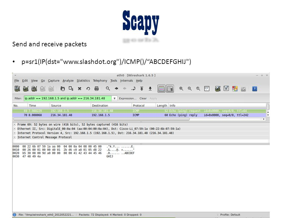 Scapy Send and receive packets