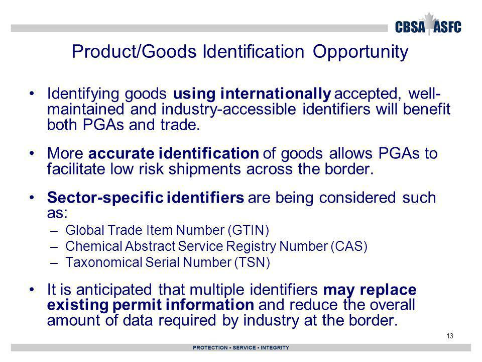 Product/Goods Identification Opportunity