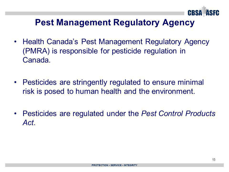 Pest Management Regulatory Agency