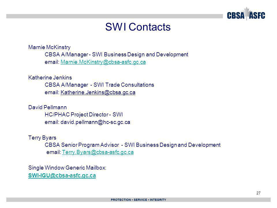 SWI Contacts Marnie McKinstry