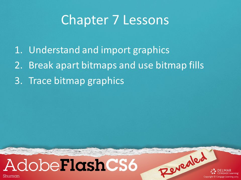 Chapter 7 Lessons Understand and import graphics