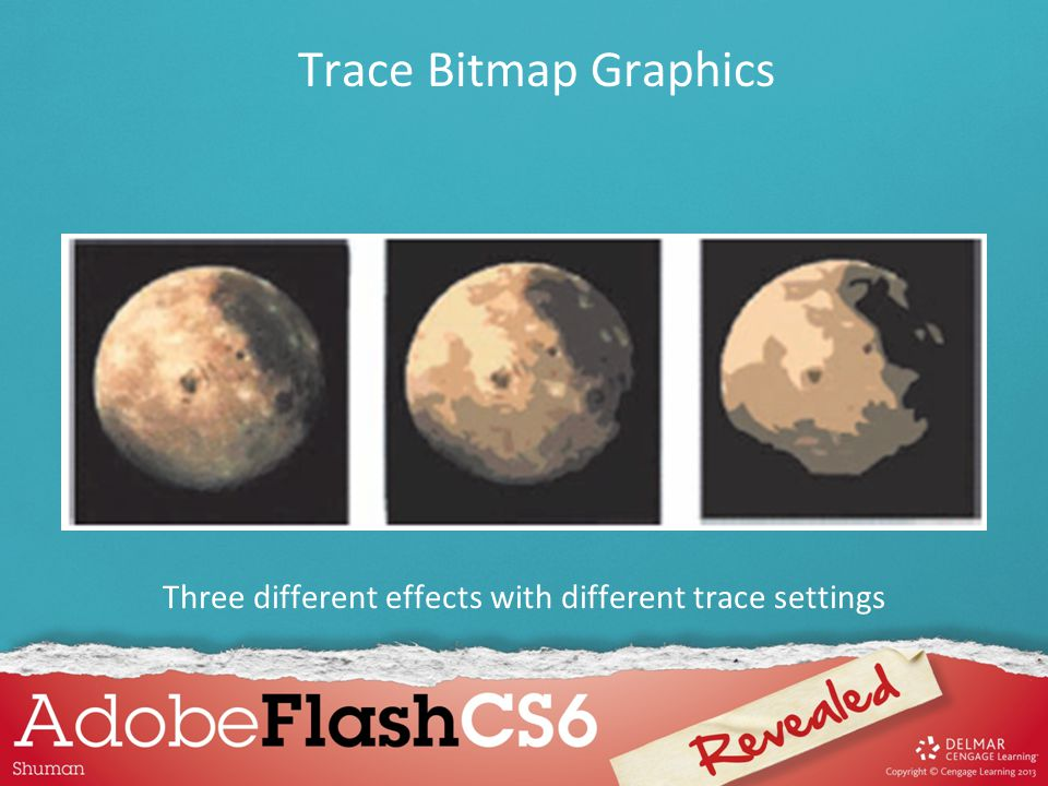 Three different effects with different trace settings
