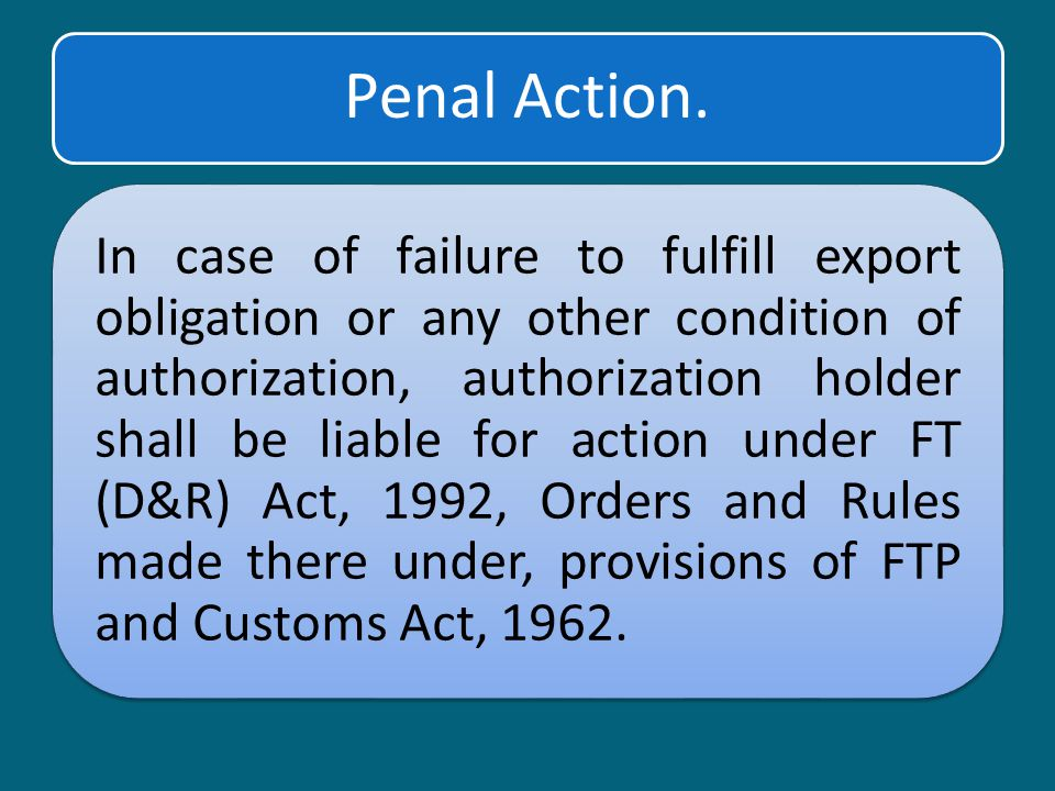 Penal Action.