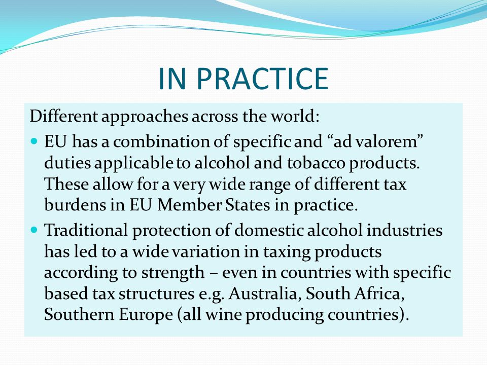 IN PRACTICE Different approaches across the world: