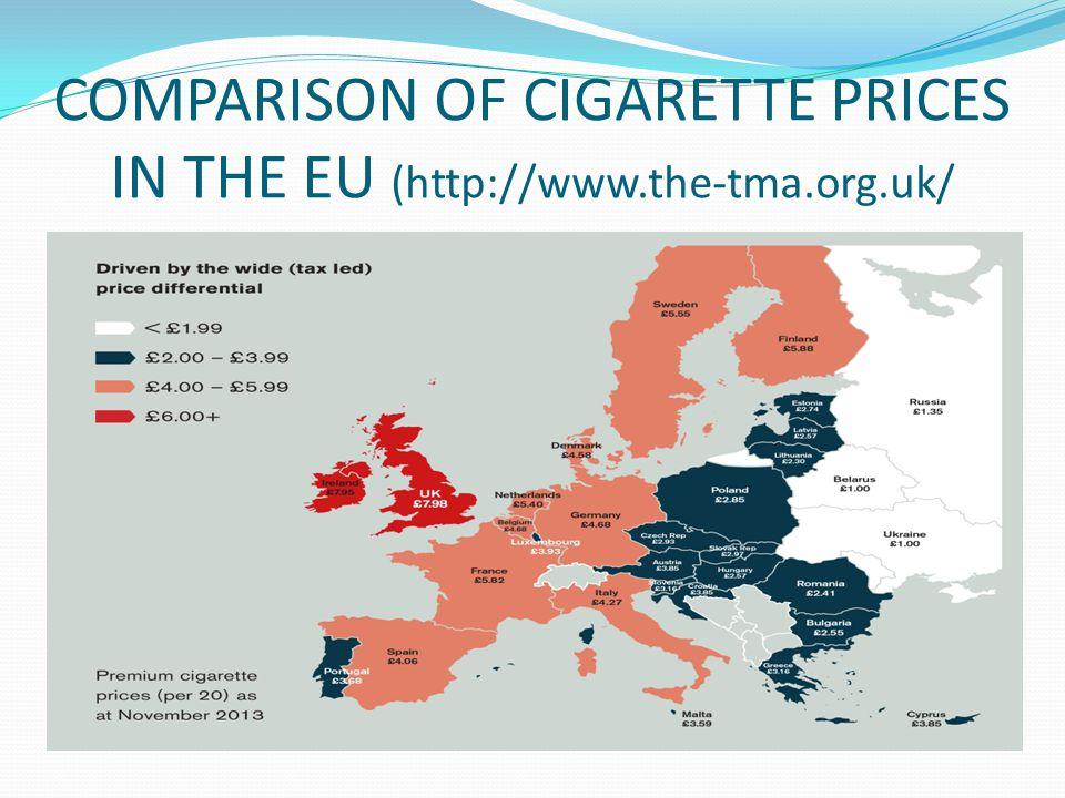 COMPARISON OF CIGARETTE PRICES IN THE EU (http://www.the-tma.org.uk/