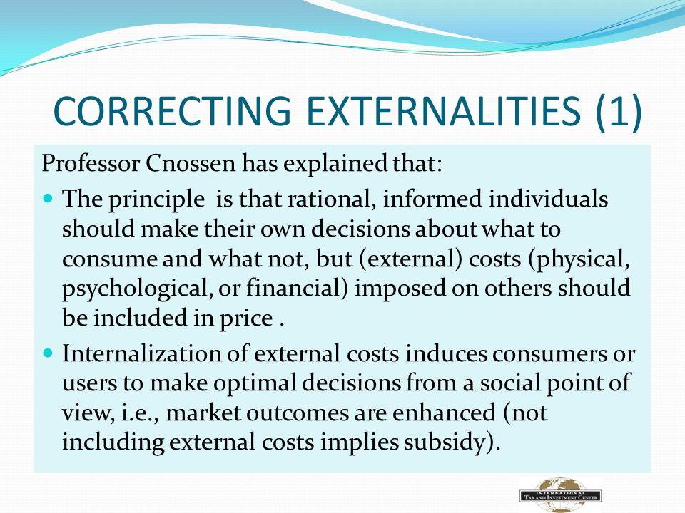 CORRECTING EXTERNALITIES (1)