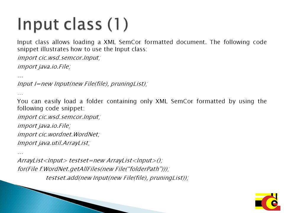 Input class (1)