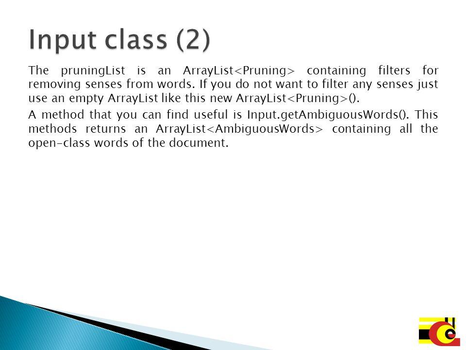 Input class (2)