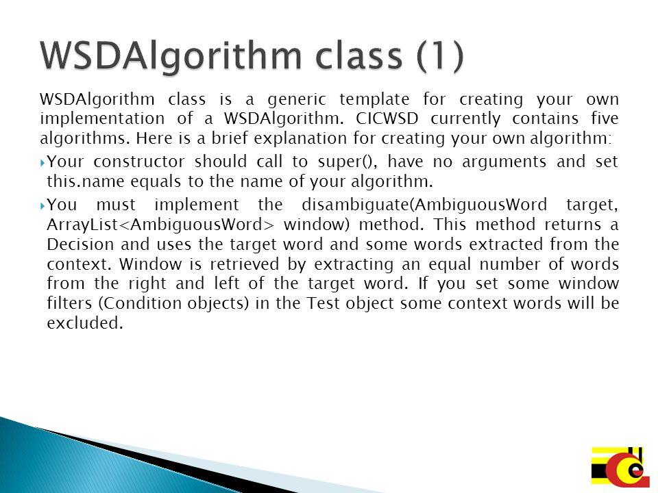 WSDAlgorithm class (1)