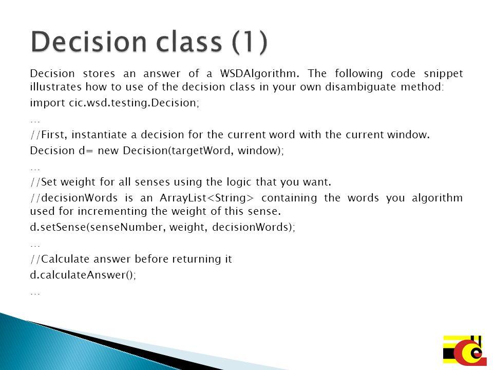 Decision class (1)