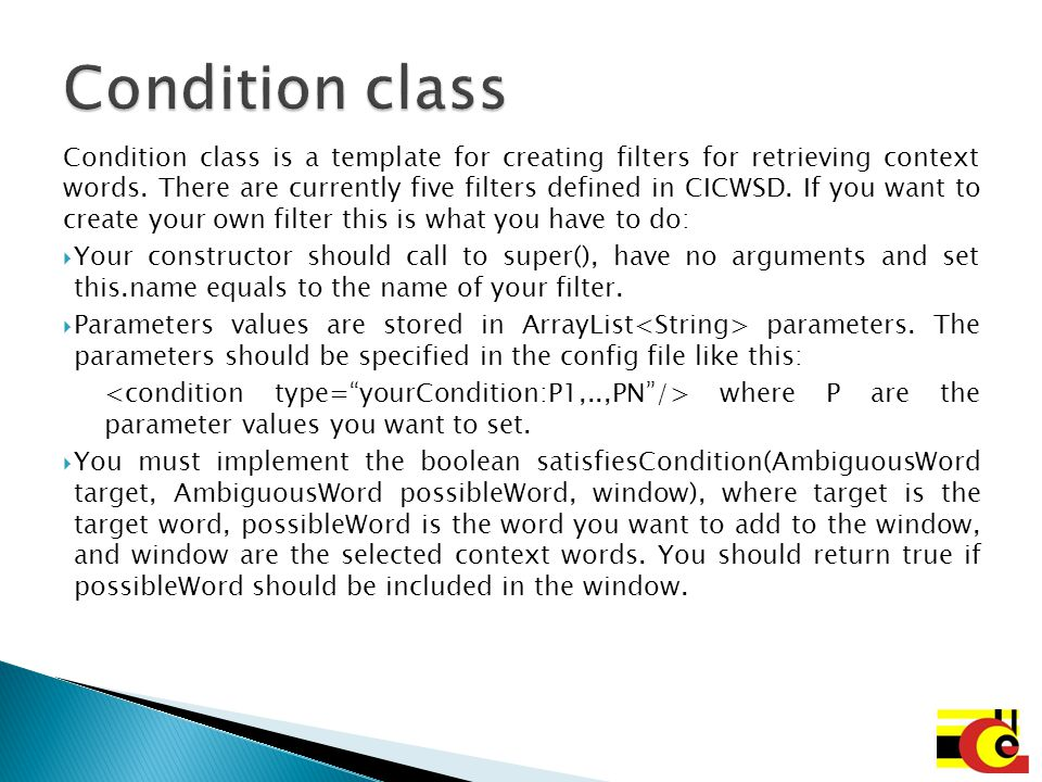 Condition class
