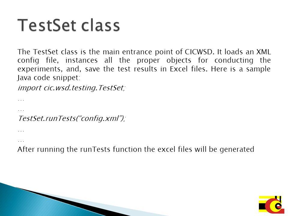 TestSet class