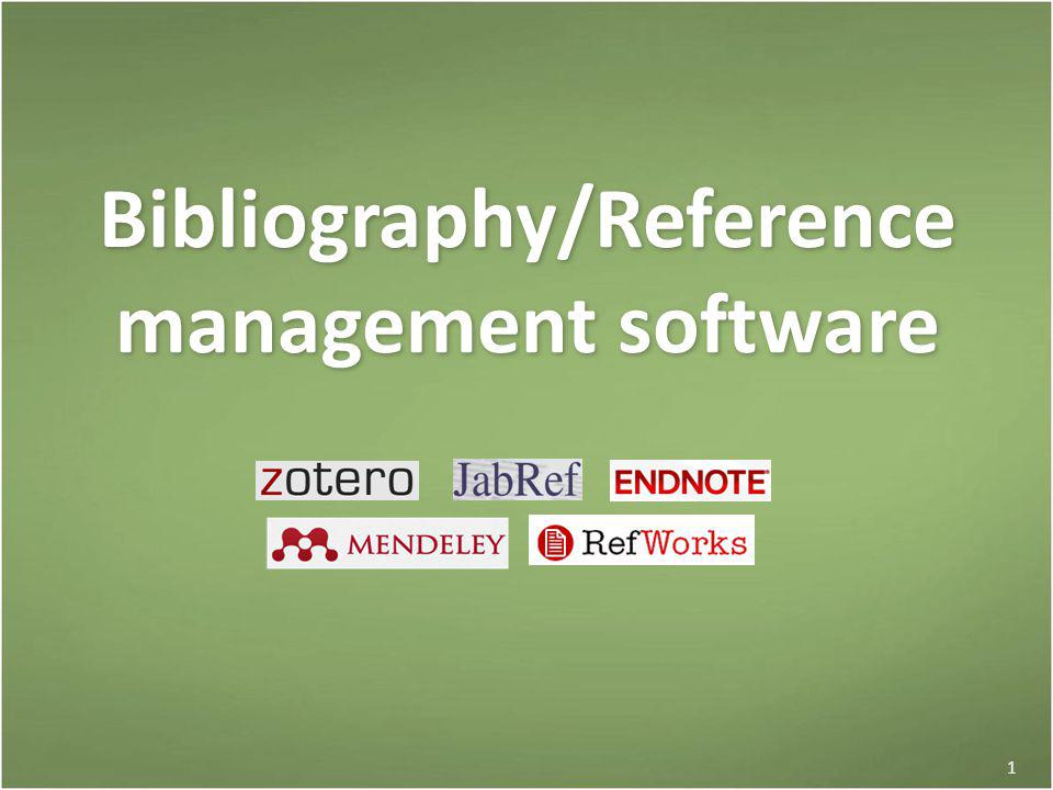 Bibliography software