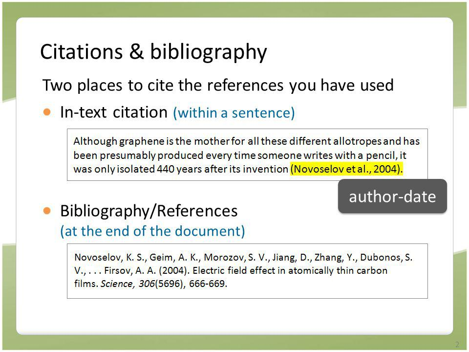 Citations & bibliography