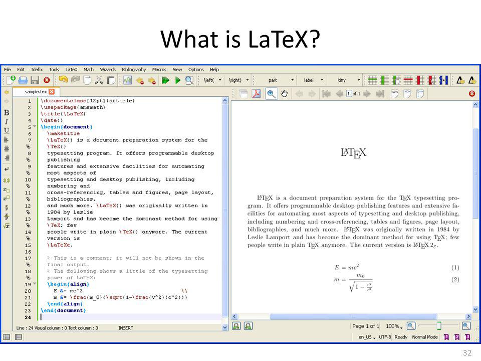 What is LaTeX