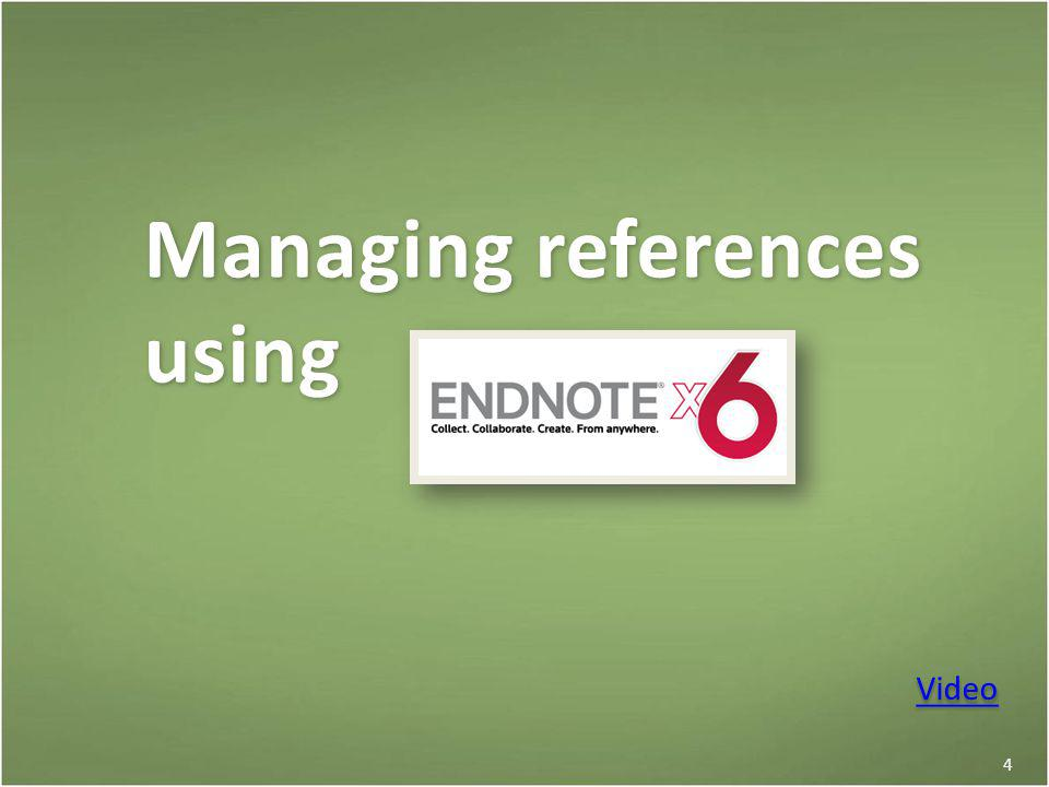 Managing references using