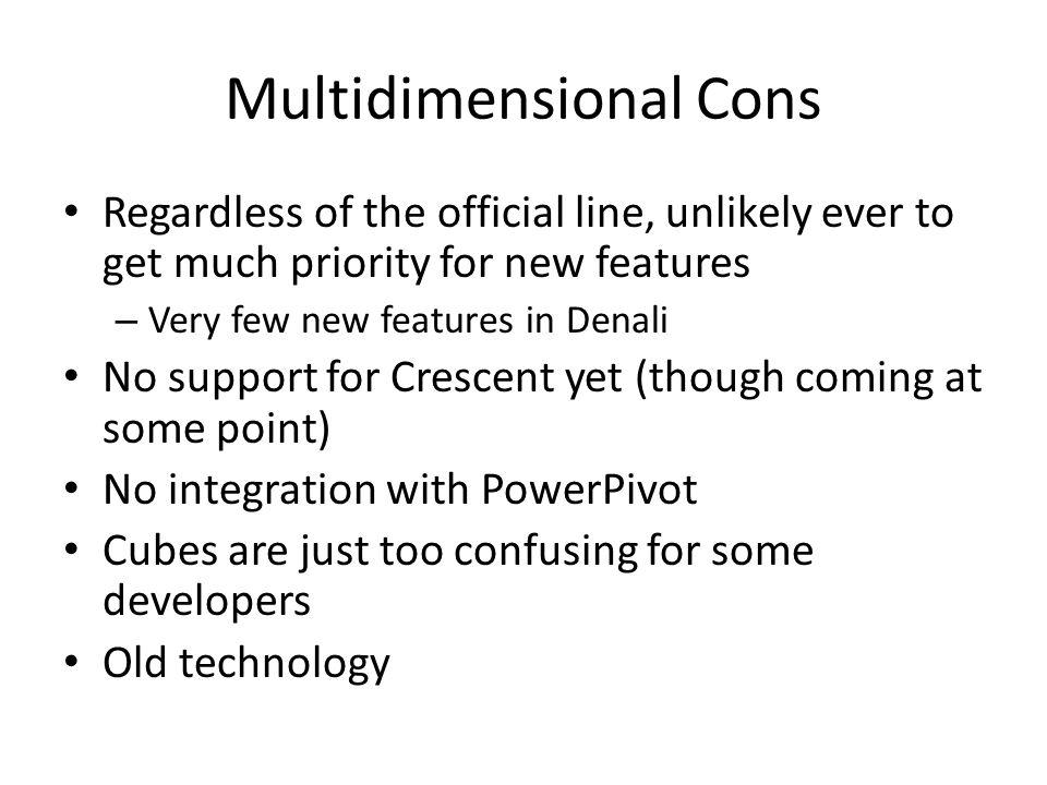 Multidimensional Cons