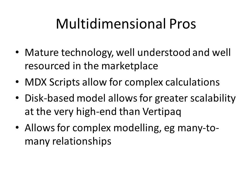 Multidimensional Pros