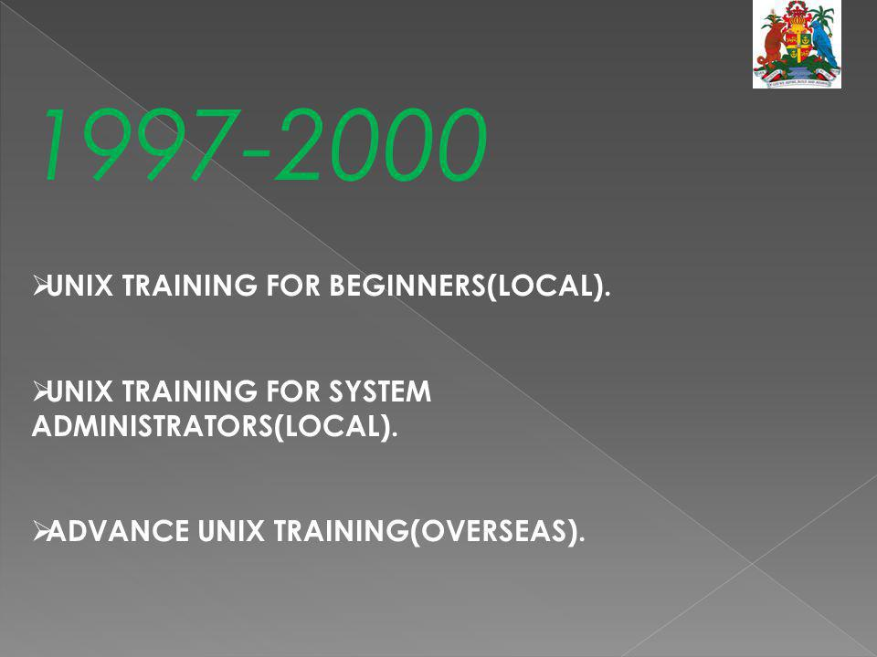 1997-2000 UNIX TRAINING FOR BEGINNERS(LOCAL).