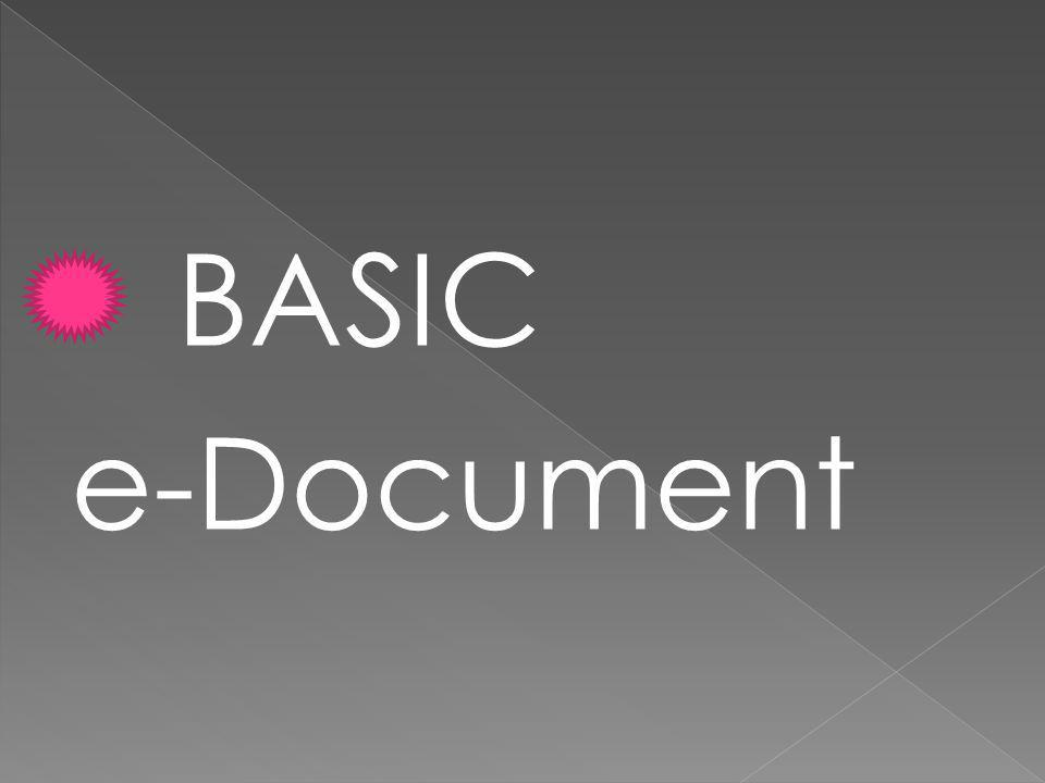 BASIC e-Document