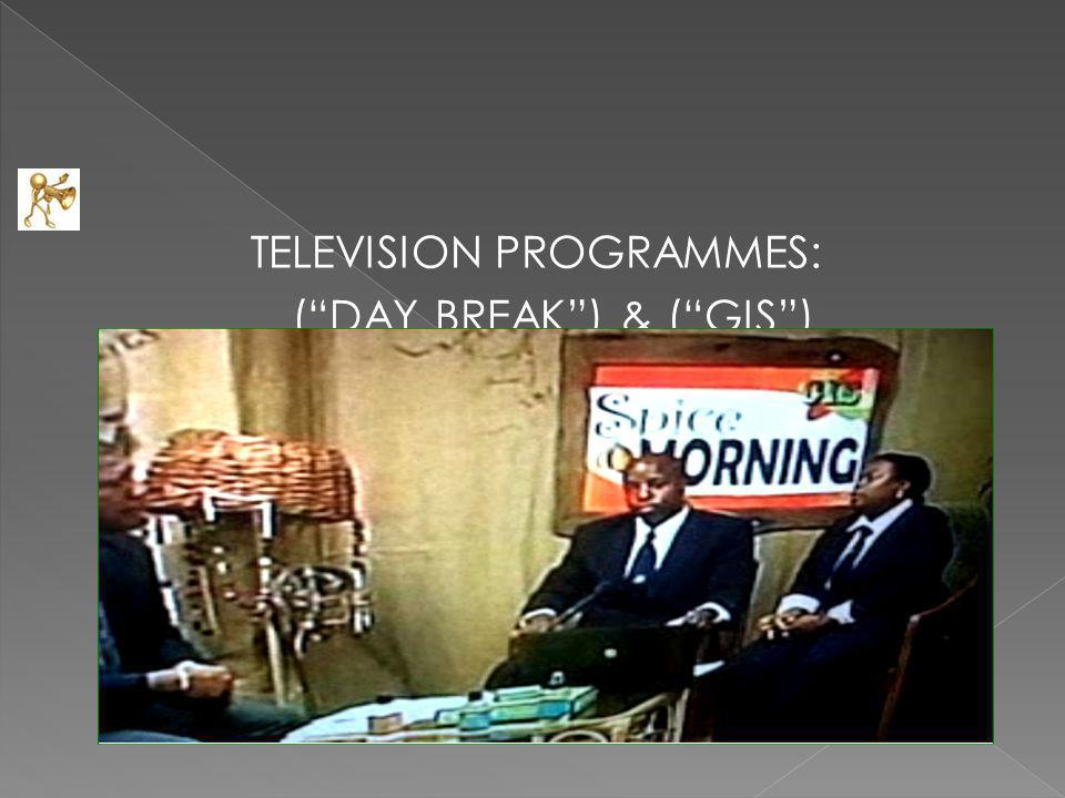 TELEVISION PROGRAMMES: