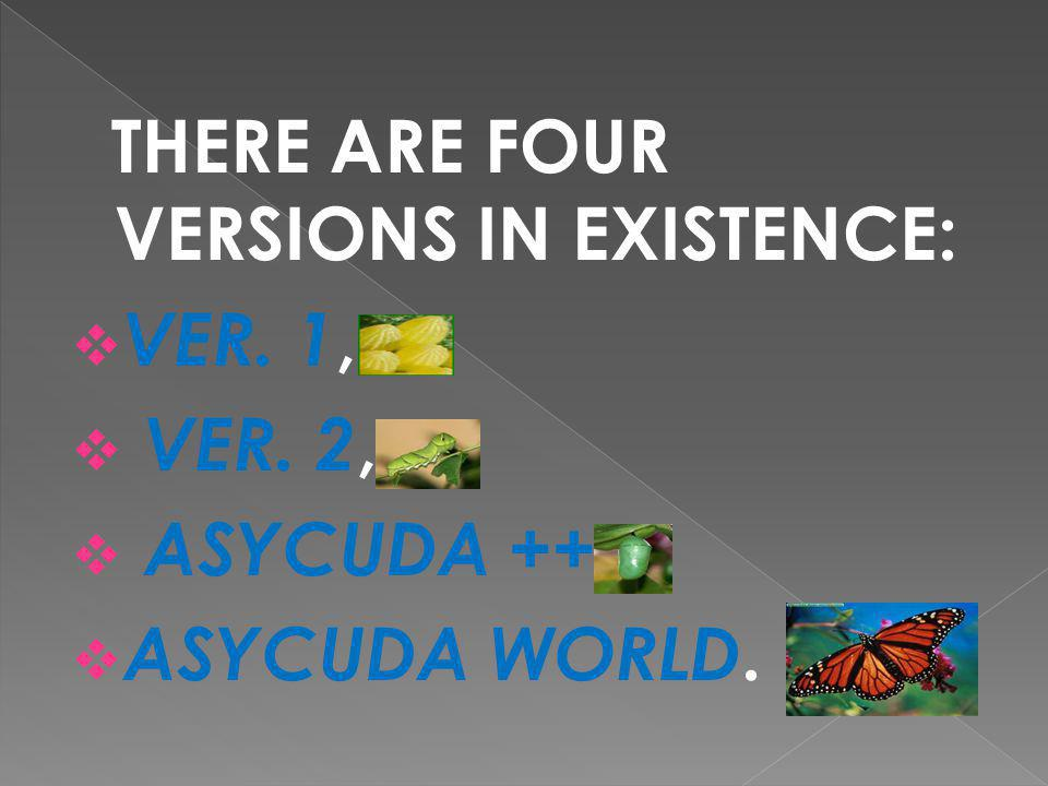 THERE ARE FOUR VERSIONS IN EXISTENCE: