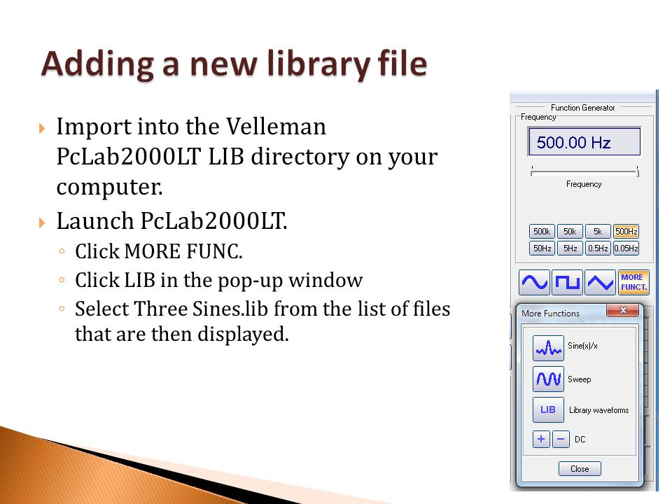 Adding a new library file