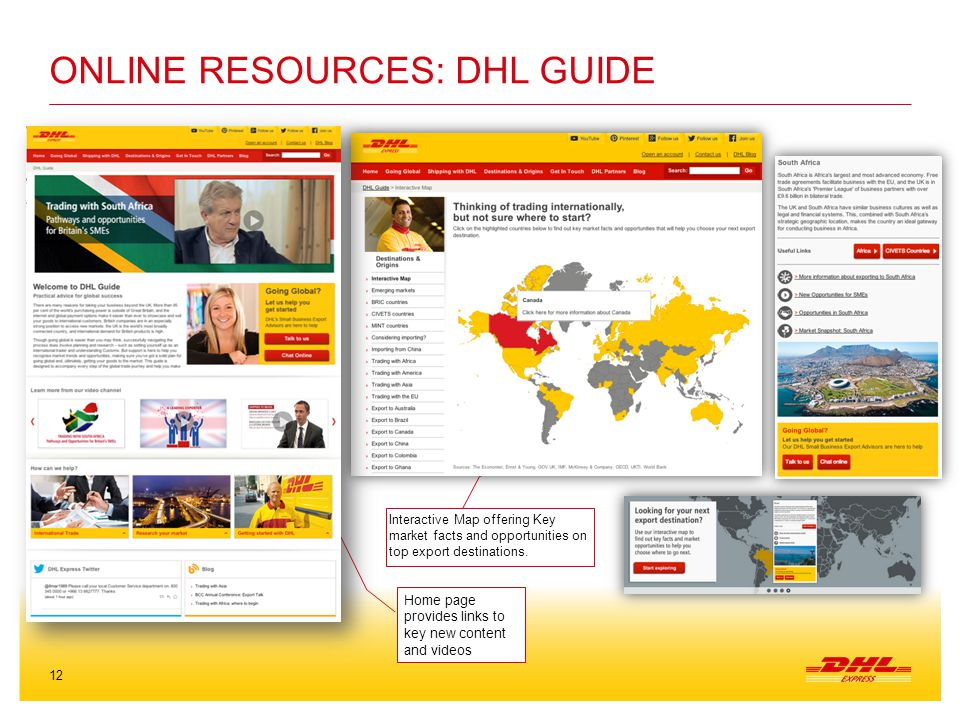 Online resources: DHL Guide