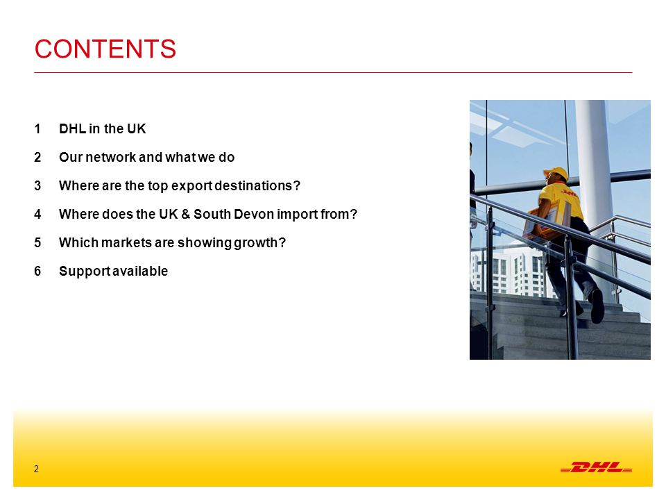 Contents DHL in the UK Our network and what we do