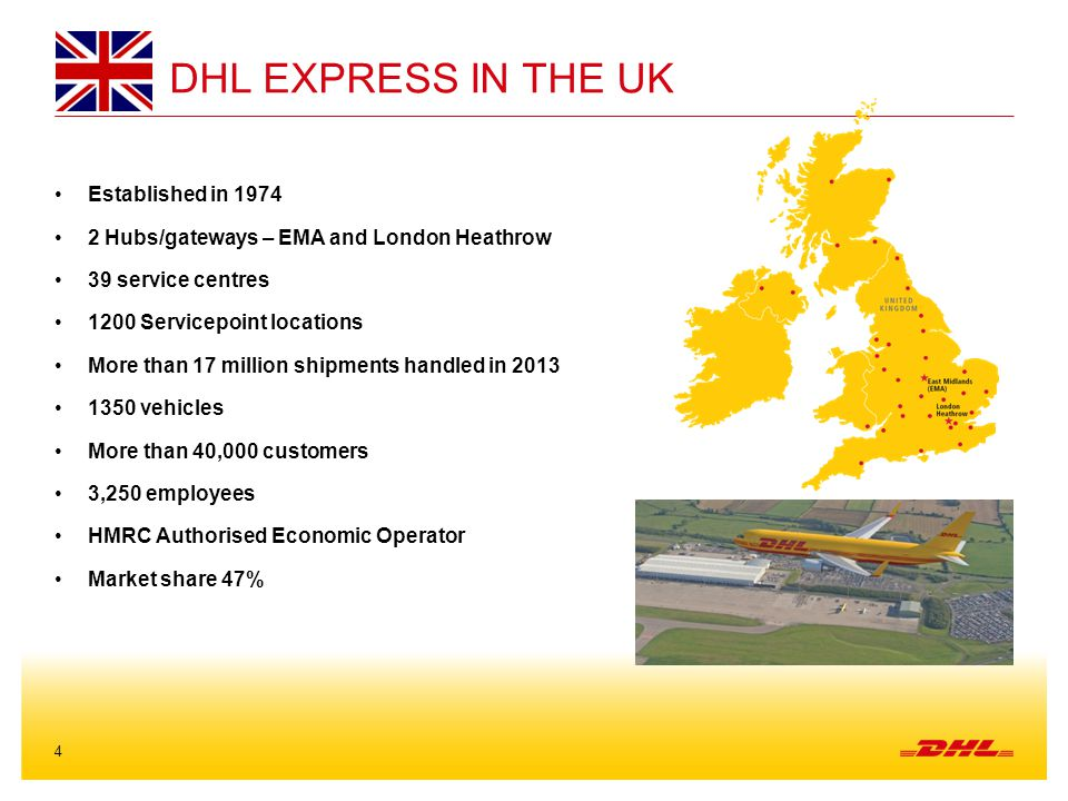 DHl express in the UK Established in 1974