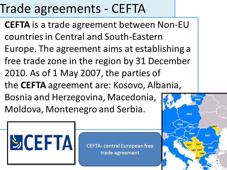 Trade agreements - CEFTA