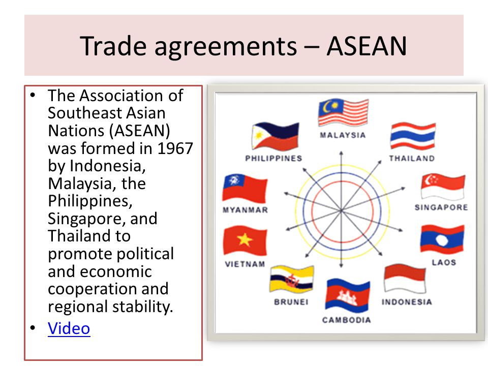 Trade agreements – ASEAN