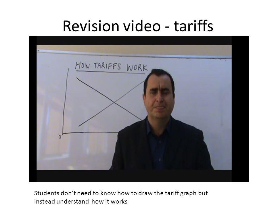 Revision video - tariffs