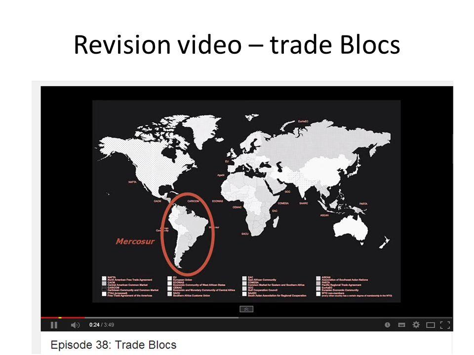 Revision video – trade Blocs
