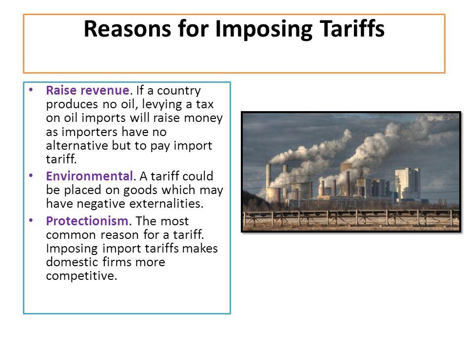 Reasons for Imposing Tariffs