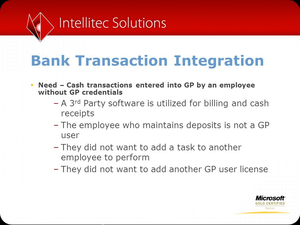 Bank Transaction Integration