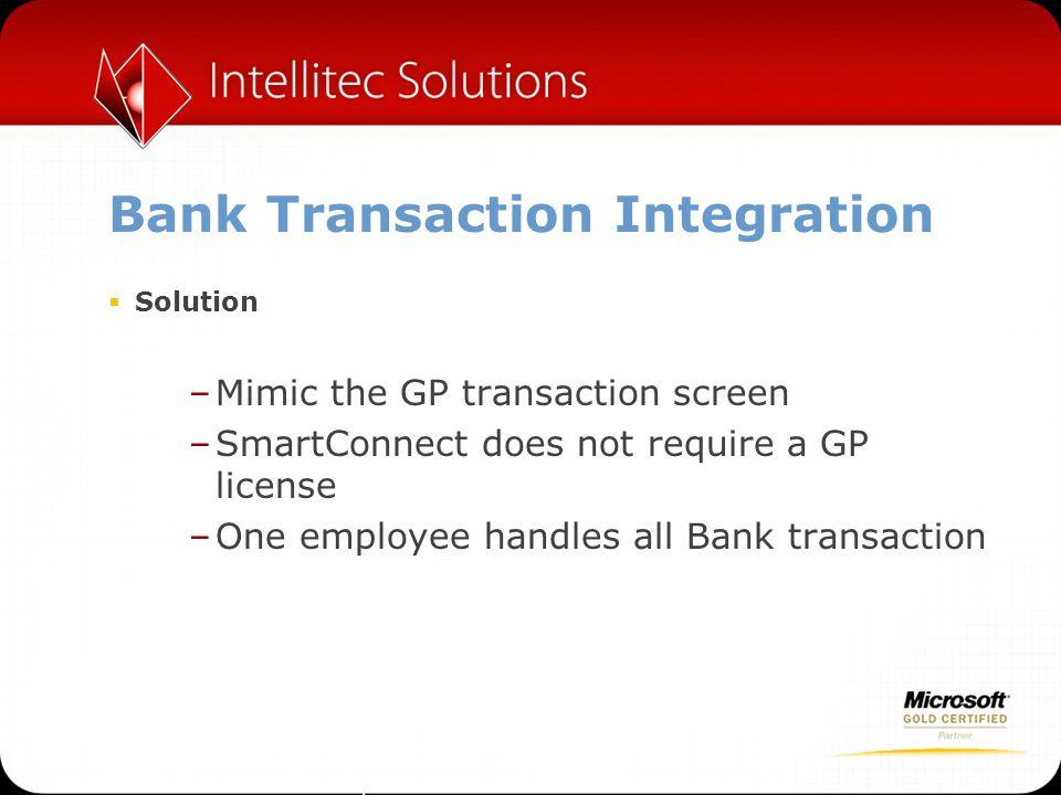 Bank Transaction Integration