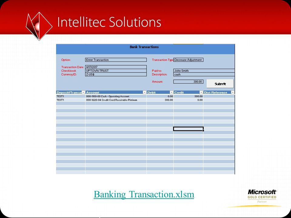 Banking Transaction.xlsm