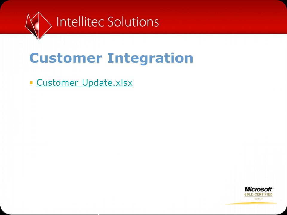 Customer Integration Customer Update.xlsx