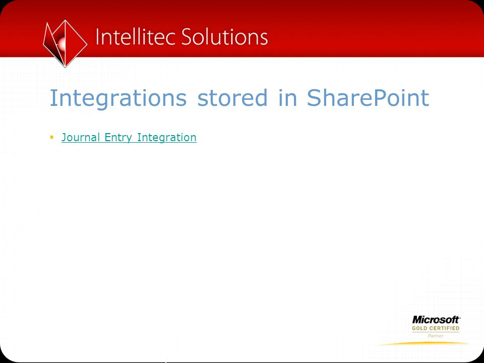 Integrations stored in SharePoint