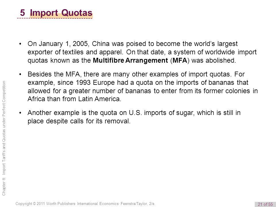 5 Import Quotas