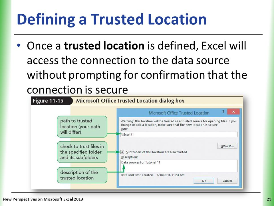 Defining a Trusted Location