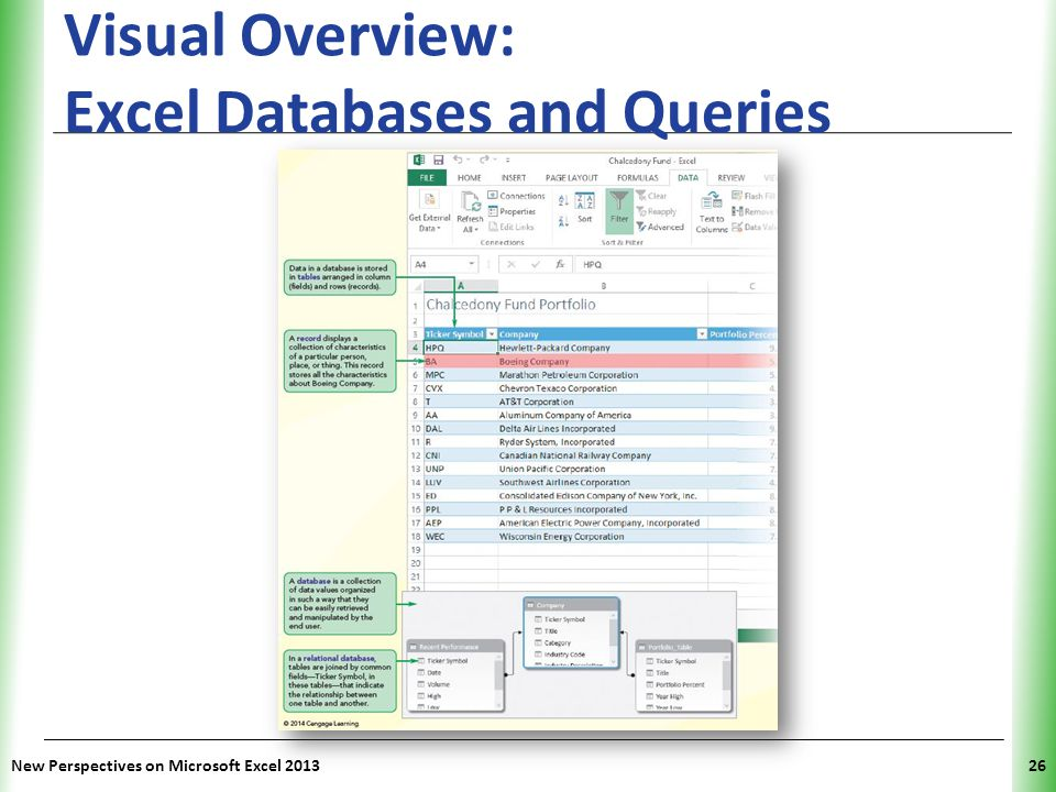 Visual Overview: Excel Databases and Queries
