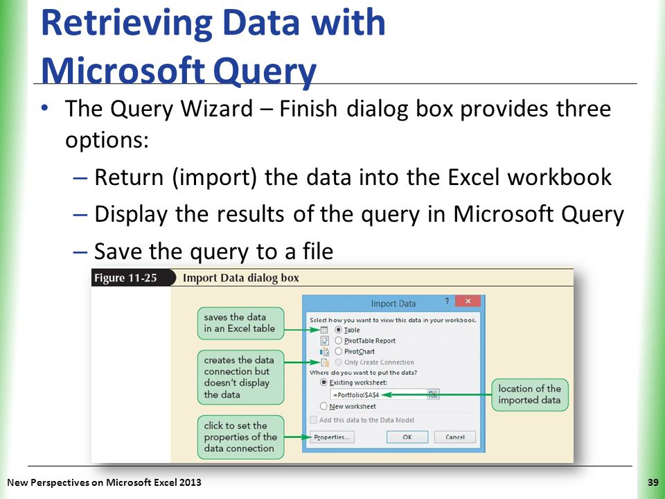 Retrieving Data with Microsoft Query