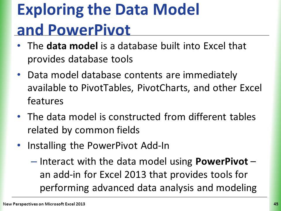Exploring the Data Model and PowerPivot