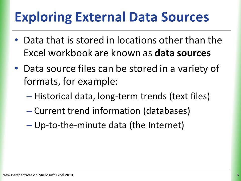 Exploring External Data Sources
