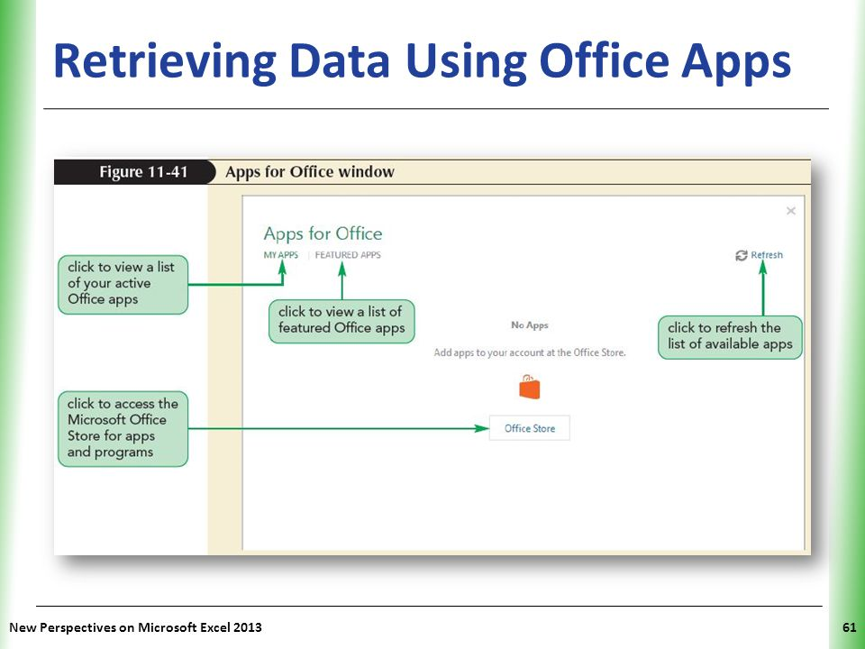 Retrieving Data Using Office Apps